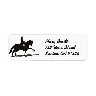 Dressage Horse Address Label