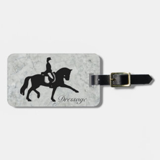 Dressage Horse and Rider Luggage Tag