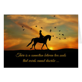 Dressage Horse and Rider Sympathy Loss of Horse Card