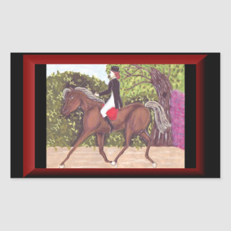 Dressage Horse English style riding sticker