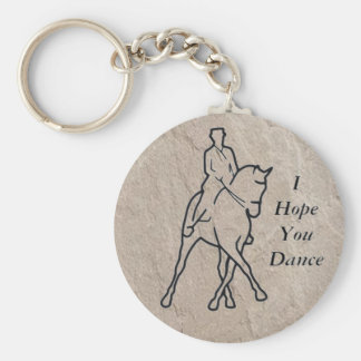 Dressage Horse Half Pass - I Hope You Dance Key Ring
