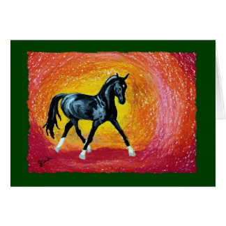 Dressage Horse Holiday Christmas Card