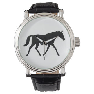 Dressage Horse in Silhouette Watch
