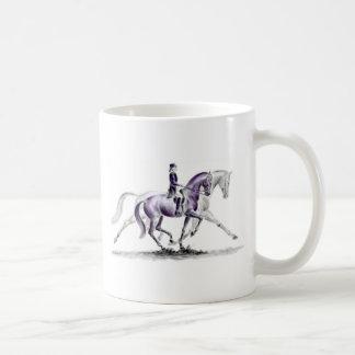 Dressage Horse in Trot Piaffe Basic White Mug