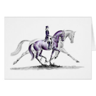 Dressage Horse in Trot Piaffe Card