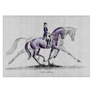 Dressage Horse in Trot Piaffe Cutting Boards