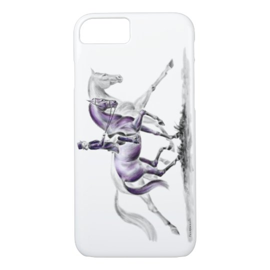 Dressage Horse in Trot Piaffe iPhone 8/7 Case