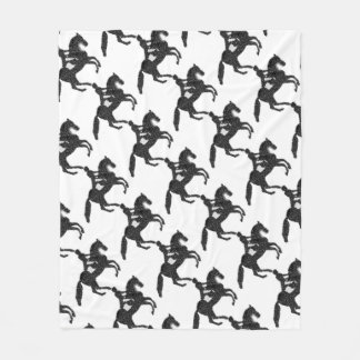 Dressage Horse Mosaic Fleece Blanket