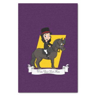 Dressage horse rider cartoon tissue paper