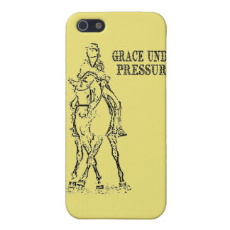 DRESSAGE HORSE & RIDER - GRACE UNDER PRESSURE iPhone 5/5S COVER