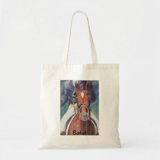 Dressage Horse Salute Canvas Bags