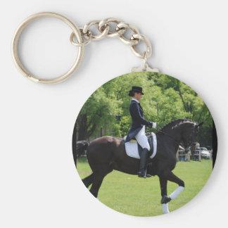 Dressage Horse Show Design Keychain