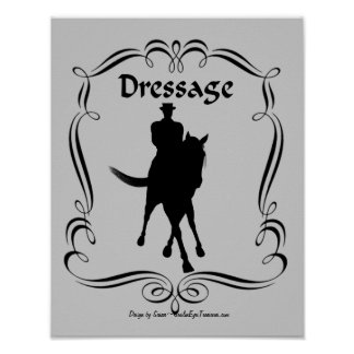 Dressage Horse Silhouette Poster Print