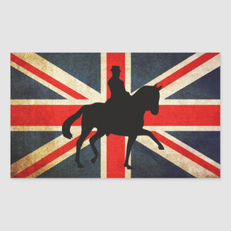 Dressage Horse with Union Jack Flag Stickers