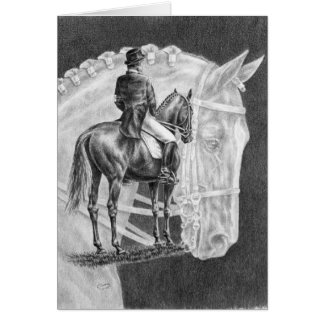 Dressage Horses Montage Drawing by Kelli Swan Greeting Card