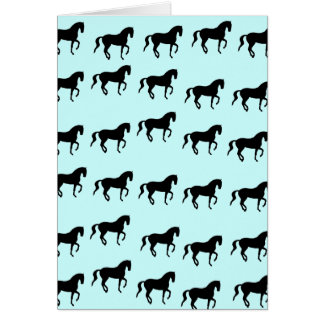 Dressage Horses Piaffe Pattern Card