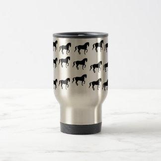 Dressage Horses Piaffe Pattern Travel Mug