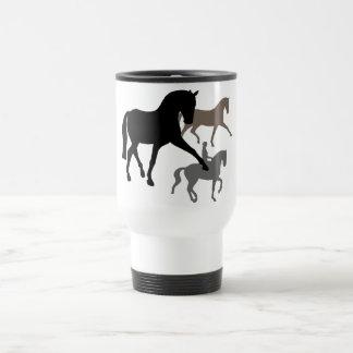 Dressage Horses Trio Travel Mug