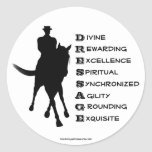 Dressage Is Horse Silhouette Sticker Label