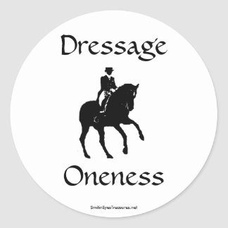 Dressage Is Oneness Sticker Label - Customized