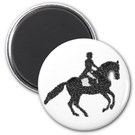 Dressage Magnet - Mosaic Horse and Rider