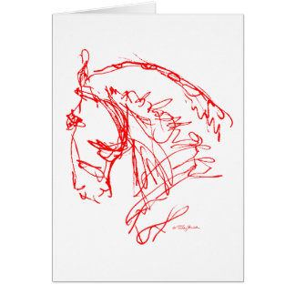 Dressage: Noble Nose Card - Red