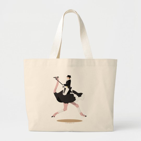 Dressage Ostrich Large Tote Bag