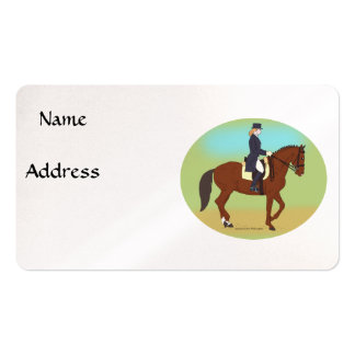 Dressage Pack Of Standard Business Cards