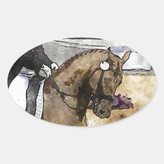 Dressage Rider Oval Sticker