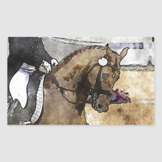Dressage Rider Rectangular Sticker