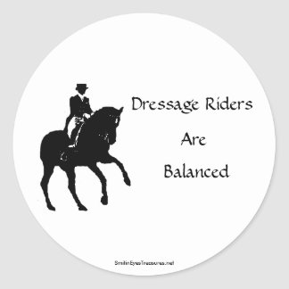 Dressage Riders Are Balanced Horse Sticker Label