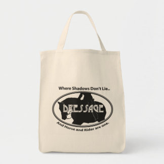 Dressage.. Where shadows don't Lie... Grocery Tote Bag