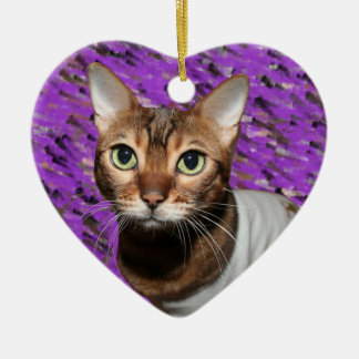 Dressed Bengal Cat Christmas Ornament