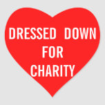 Dressed For Charity Heart Stickers