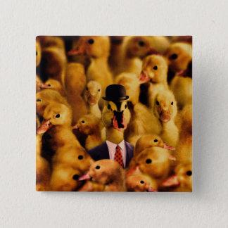 Dressed For Success Duck 15 Cm Square Badge