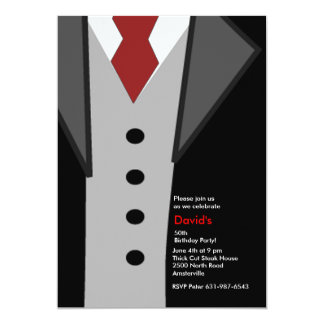 Dressed to the 9's 13 cm x 18 cm invitation card