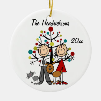 Dressed Up Couple, Dog, Cat Personalized Ornament
