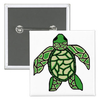 Dressed up sea turtle button