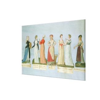 Dresses and costumes in vogue canvas print
