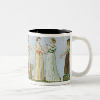 Dresses and costumes in vogue Two-Tone coffee mug