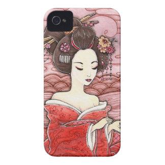 Dressing Geisha in Kimono iPhone 4/4S Case