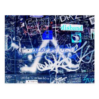 Dressing Room Graffiti Postcard