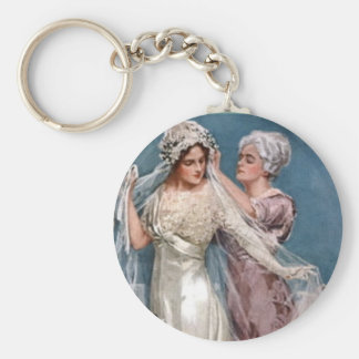 Dressing the Bride Basic Round Button Key Ring