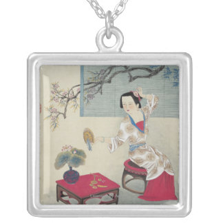 Dressing up in the Morning Silver Plated Necklace