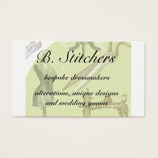 Dressmakers or seamstress business card