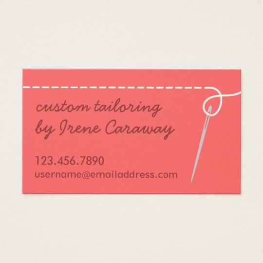 Dressmaking Alterations Sewing Business Card