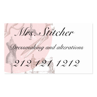Dressmaking or sewing themed business card
