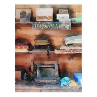 Dressmaking Supplies and Sewing Machine Postcard