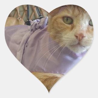 Dressy Claude Heart Sticker