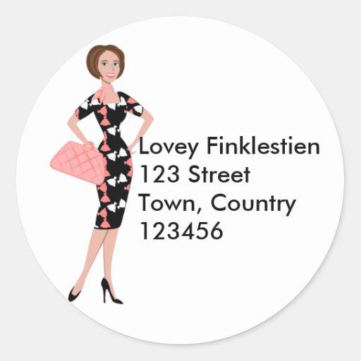 Dressy Dress Round Stickers